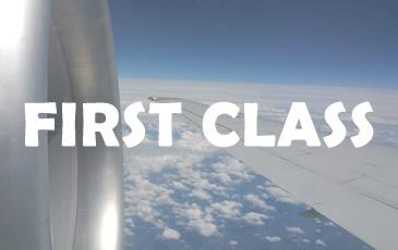 First Class reizen met het vliegtuig