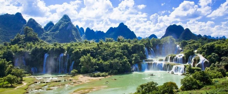 Mooie natuur in Vietnam